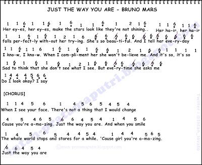 Bruno Mars Just The Way You Are Not Angka Lagu Terbaru