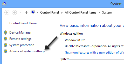 Adjust for Best Performance windows 8 step 1