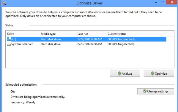 Mengoptimalkan Harddisk windows 8