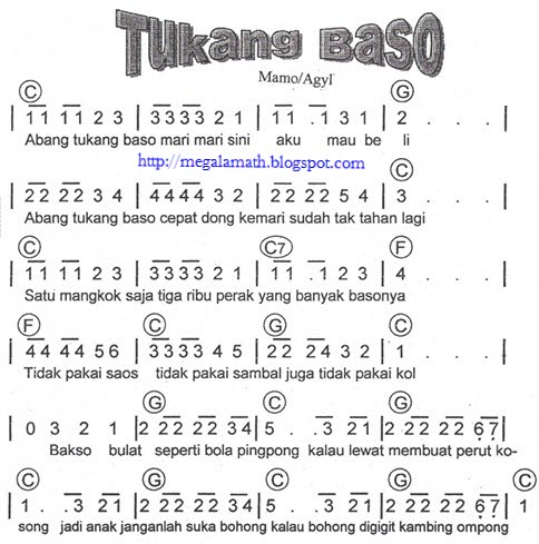 Koleksi not angka lagu anak anak not angka lagu terbaru