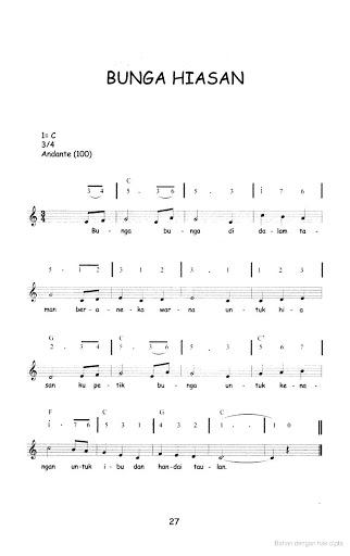 20 Koleksi Not Angka Lagu Anak – Anak | Not angka lagu Terbaru