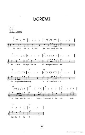 Not Angka Lagu Anak-anak - Doremi
