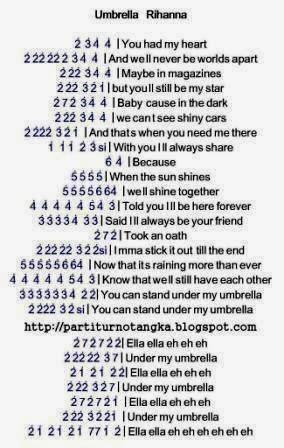 Rihanna Umbrella Chords